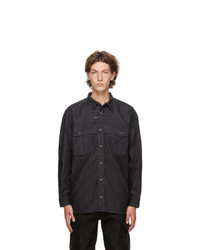 Givenchy Black Denim Address Shirt