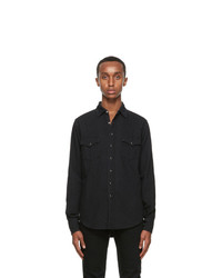 Saint Laurent Black Denim Classic Western Shirt