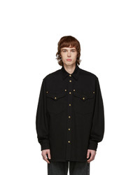 Versace Black Denim Shirt