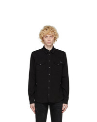 Dolce and Gabbana Black Denim Shirt