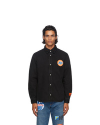 Heron Preston Black Denim Techno Shirt