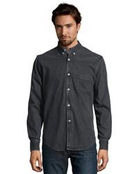 Slate & Stone Black Denim Wesley Button Down Shirt