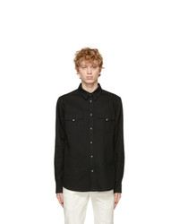Alexander McQueen Black Selvedge Denim Tape Shirt