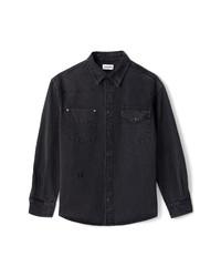 Kenzo Denim Snap Up Western Shirt