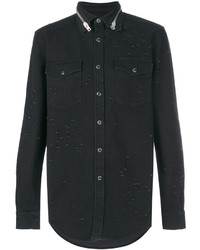 Givenchy Distressed Denim Shirt