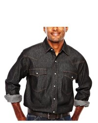 Ely Cattleman Denim Snap Shirt Black