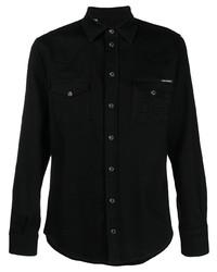 Dolce & Gabbana Logo Embossed Denim Shirt