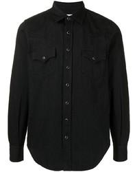 Saint Laurent Pointed Collar Western Denim Shirt