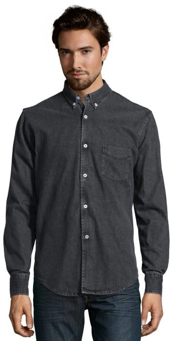 Slate & Stone Black Denim Wesley Button Down Shirt | Where to buy ...