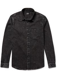 A.P.C. Victor Slim Fit Washed Denim Shirt