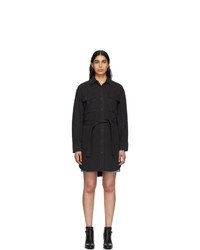 Rag and Bone Black Denim Shirt Dress