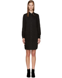 Stella McCartney Black Denim Shirt Dress
