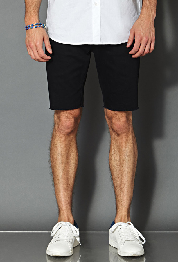 21men 21 Frayed Denim Shorts | Where to buy & how to wear