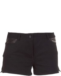 Alexander Wang T By Panelled Denim Shorts