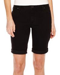 Ana Ana Cuffed Denim Bermuda Shorts Petite