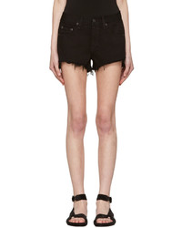 Rag & Bone Black Denim Cut Out Shorts