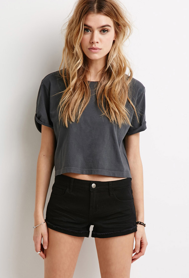 black shorts for women forever 21