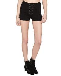 Amuse Society Daisy Chain High Waisted Denim Shorts