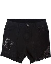 Ermanno Scervino Embellished Denim Shorts