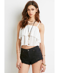 Forever 21 Embroidered Panel Cutoffs