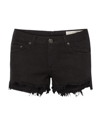 Rag & Bone Frayed Cut Off Denim Shorts