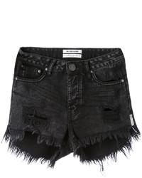 One Teaspoon Frayed Denim Shorts