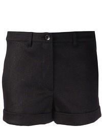 Gareth Pugh Coated Denim Shorts