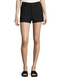 Helmut Lang Denim Mini Shorts Black