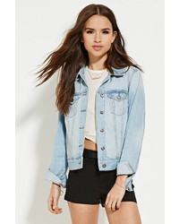 Forever 21 High Rise Cuffed Denim Shorts