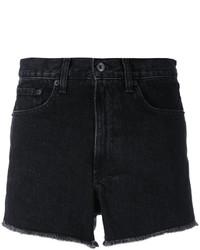 Rag & Bone Jean High Rise Frayed Denim Shorts