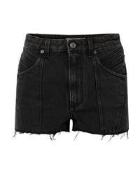 Givenchy Paneled Frayed Denim Shorts