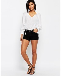 Vero Moda Stitch Side Denim Shorts