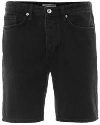 Topman Black Denim Slim Fit Shorts