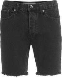 Topman Raw Edge Black Skinny Denim Shorts
