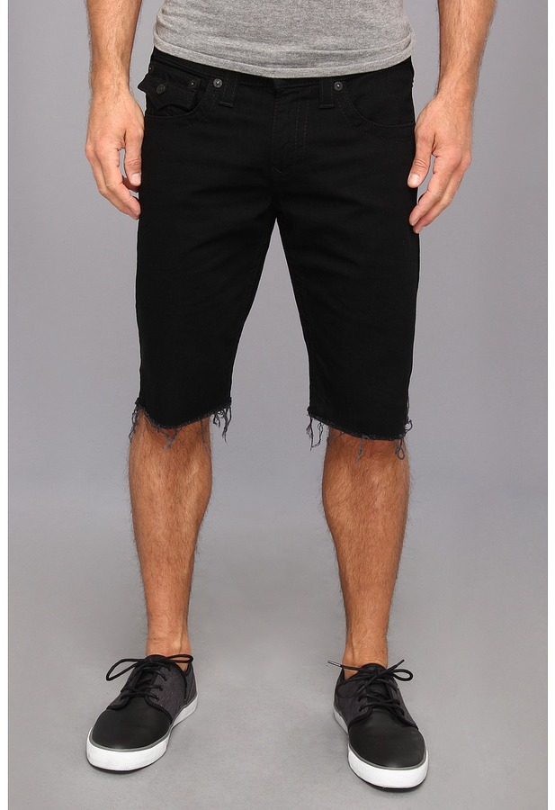 Mens Black Denim Shorts. When he wants to feel casual as can be, there's no better piece of clothing then a reliably comfortable pair of men's denim shorts or jeans for him to relax in. Most men know all about relaxing in a great pair of jeans; isn't that what they were made for?These are the shorts or pants that were made for the times when a guy has to get a lot done but wants to do it.