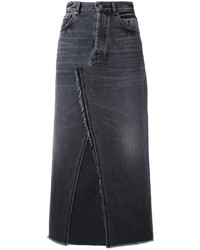 Golden Goose Deluxe Brand Denim Frayed Midi Skirt