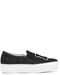 Joshua Sanders La Denim Slip On Sneakers