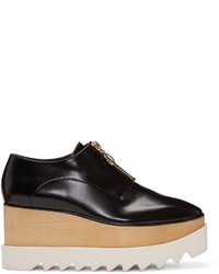 Stella McCartney Black Elyse Zip Up Platform Derbys