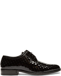 Saint Laurent Montaigne Perforated Patent Leather Derby Shoes
