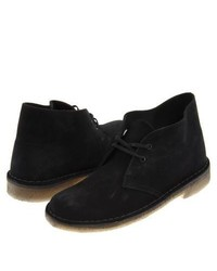 Clarks Desert Boot Lace Up Boots Black Suede