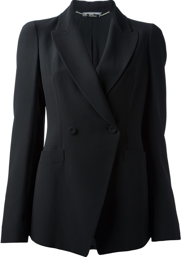 Alexander McQueen Double Breasted Structured Blazer