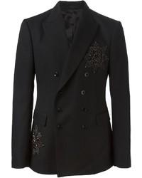 Alexander McQueen Embellished Badge Blazer