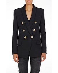 Balmain Wool Double Breasted Blazer