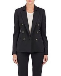 Barneys New York Double Breasted Blazer Black