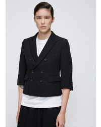 Comme des Garcons Black Cropped Double Breasted Blazer