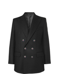 Givenchy Black Double Breasted Wool Blazer