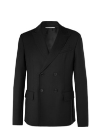 Valentino Black Double Breasted Wool Blazer
