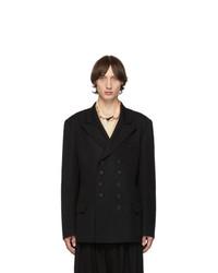 Yohji Yamamoto Black Doubled Short Jacket