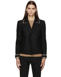 Saint Laurent Black Flannel Spencer Jacket