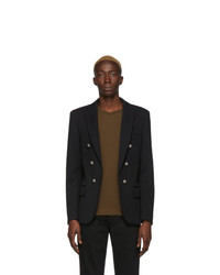 Balmain Black Six Button Jacket